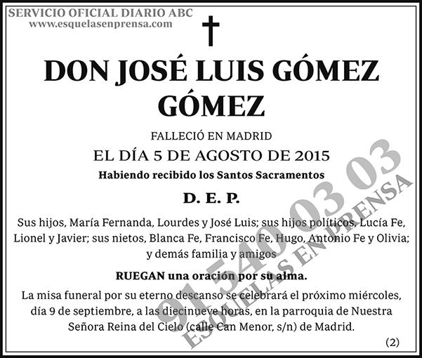 José Luis Gómez Gómez